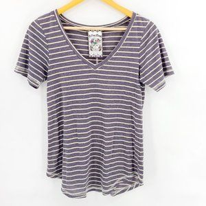 A Fine Mess Zumiez Punk Rock Stripe V-neck Shirt